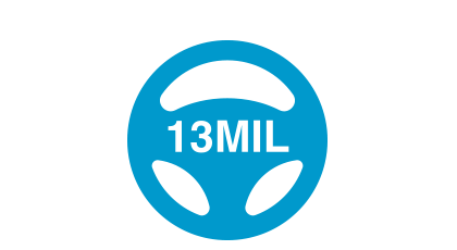 13mil icon blue